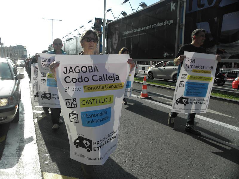Jagoba Codoren izeba, mobilizazio batean. (Argazkia: Aritz Sorzabal)