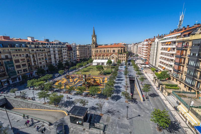 Katalunia plaza. (Argazkia: Irutxuloko Hitza)