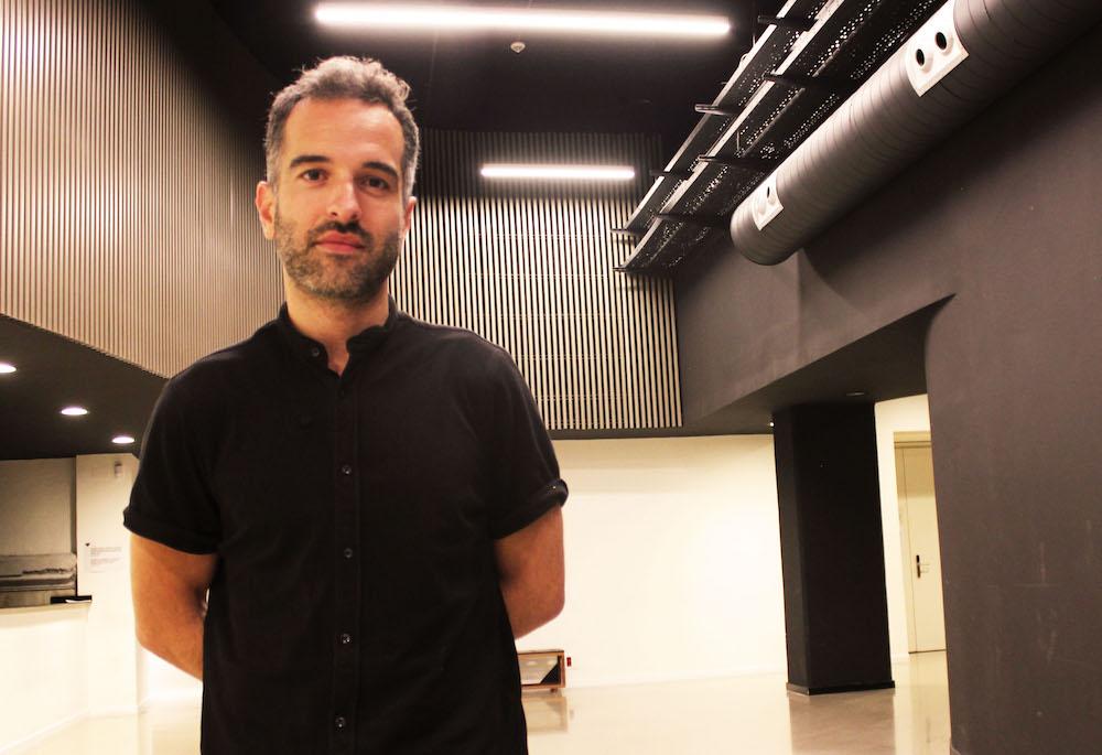 Mikel Gurrea zinemagilea, Zinema (H)abian proiektuaren dinamizatzaileetako bat. (Argazkia: Zinea.eus)