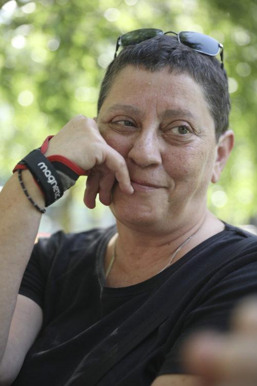 Pilar Mendibil 'Pilon'-ek mugimendu feministako lesbianatza du bere burua. (Argazkia: Joseba Parron)