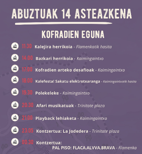 aste nagusia donostia abuztuak 14