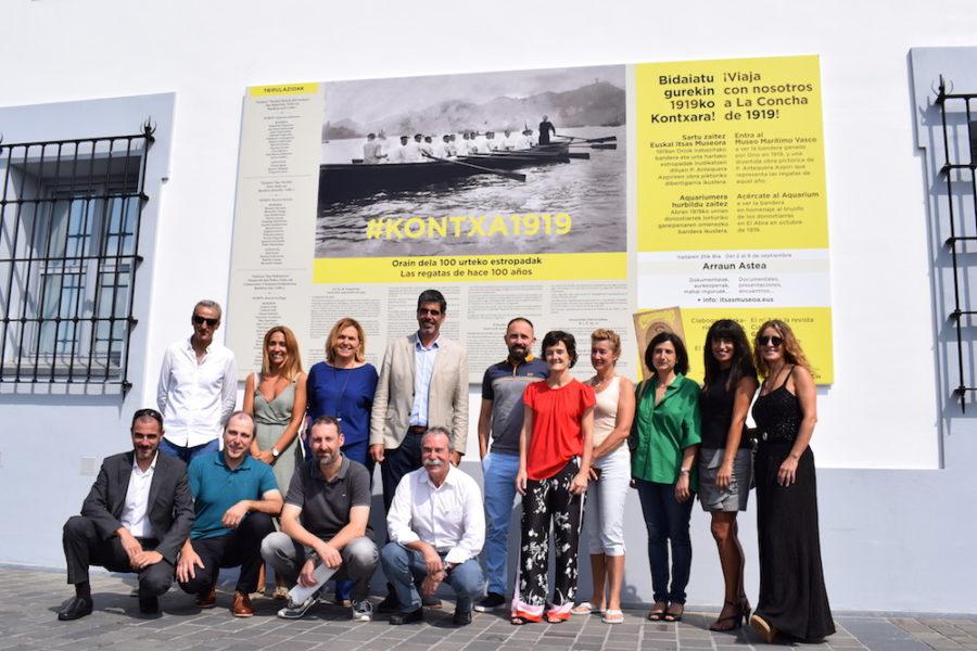 #KONTXA1919 egitasmoa aurkeztu dute Euskal Itsas Museoan. (Argazkia: Irati Salsamendi)