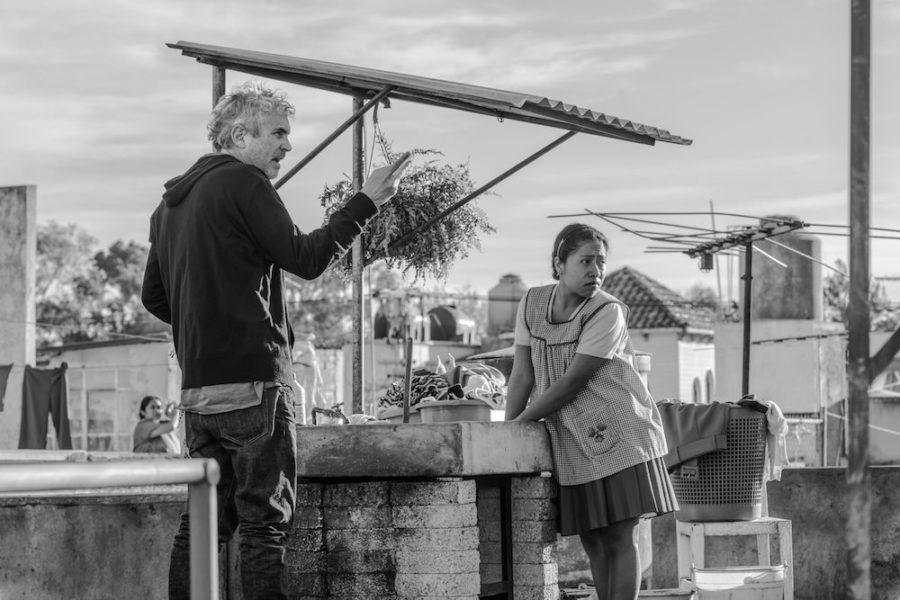 Alfonso Cuaron, 'Roma' filmaren grabaketan. (Argazkia: Irutxuloko Hitza)