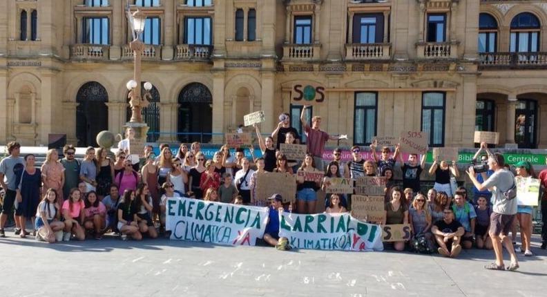 Donostiako Fridays For Future mugimenduaren protesta bat, Alderdi Ederren. (Argazkia: FFF)