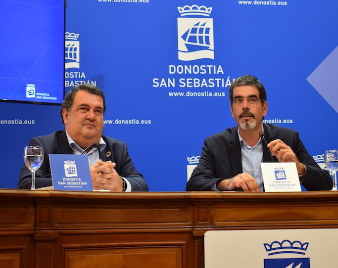 2019-2023 gobernu programa aurkeztu dute Ernesto Gascok eta Eneko Goiak. (Argazkia: Irati Salsamendi)