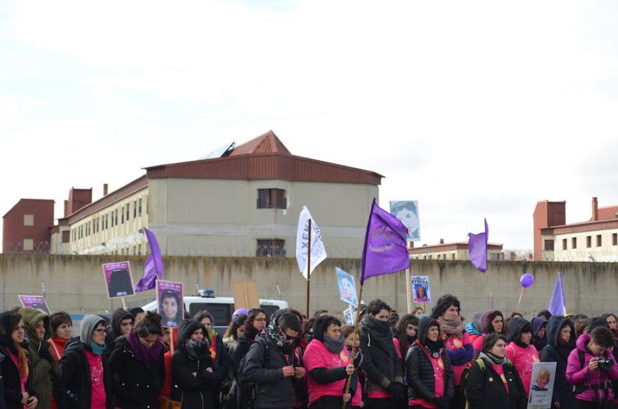 Euskal Herriko Bilgune Feministak Valladoliden antolatutako espetxe martxa, 2017an. (Argazkia: EHBF)