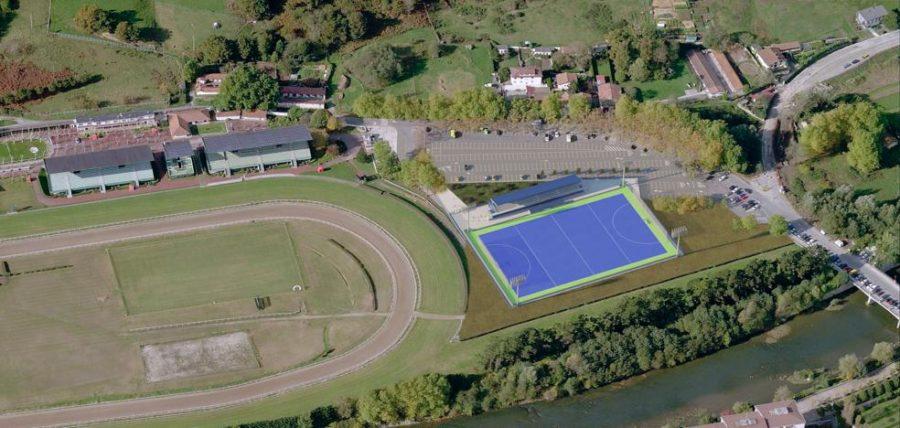 Hockey zelai berria Hipodromoaren ondoan eraikiko dute, aparkalekua eta Oria ibaiaren artean. (Argazkia: Donostiako Udala)