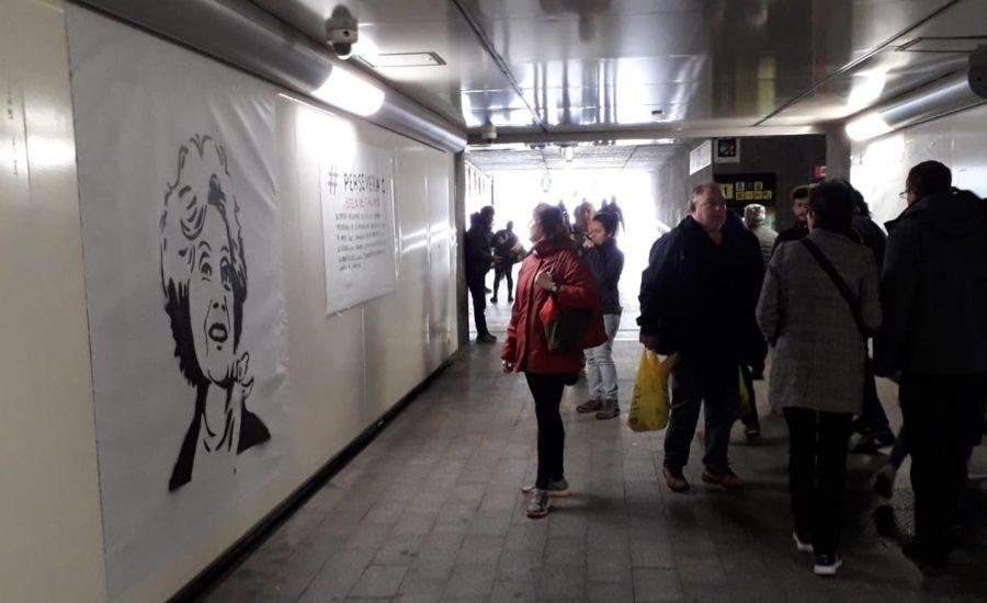M8 Kontadores horma irudi feministak Egiako tunelean