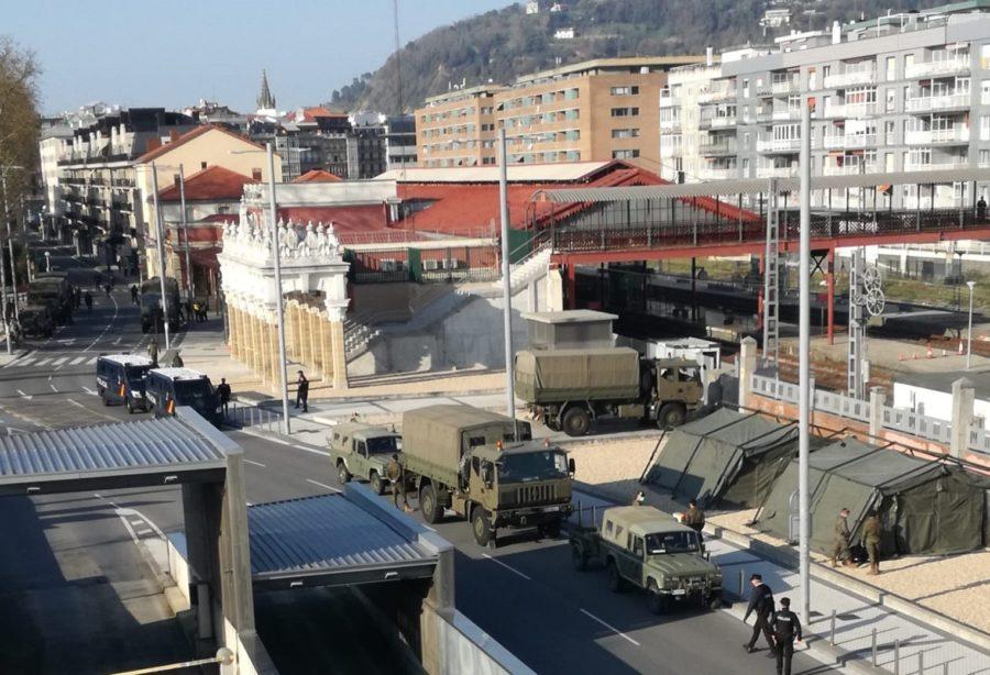 Militarrak Donostiako geltokian