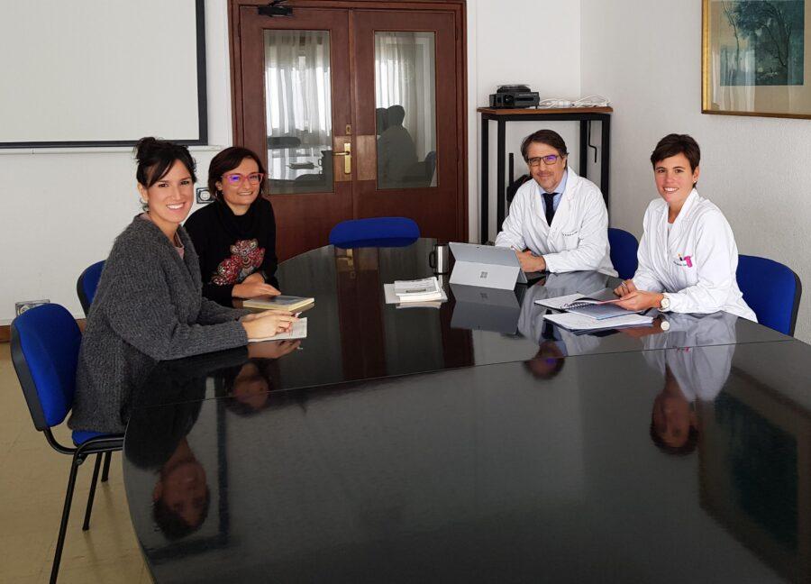 Ezkerretik eskuinera, Usune Etxeberria, Lucía Gayoso, Miguel Ruiz-Canela eta Leticia Goñi. (Argazkia: Basque Culinary Center)