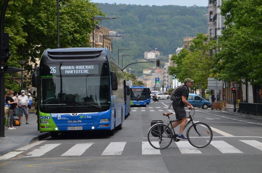 Donostian, Miramongo parke teknologikoan eta hiriko autobus batzuetan 5Ga ezartzeko proiektua martxan da. (Argazkia: Irati Salsamendi)