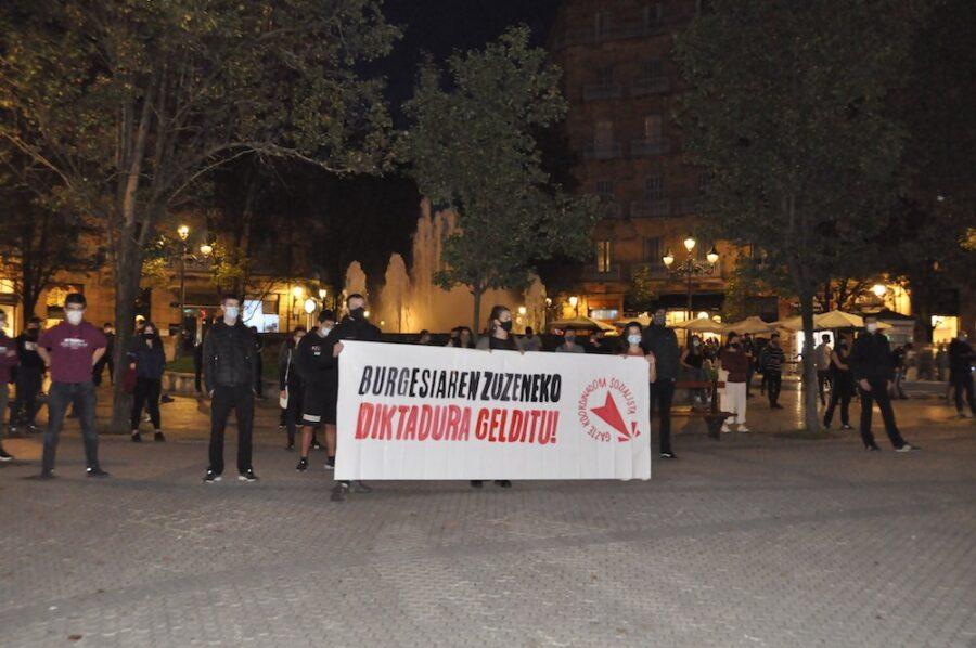 'Burgesiaren zuzeneko diktadura gelditu!' lelopean egingo dute manifestazioa. (Argazkia: Donostiako GKS)