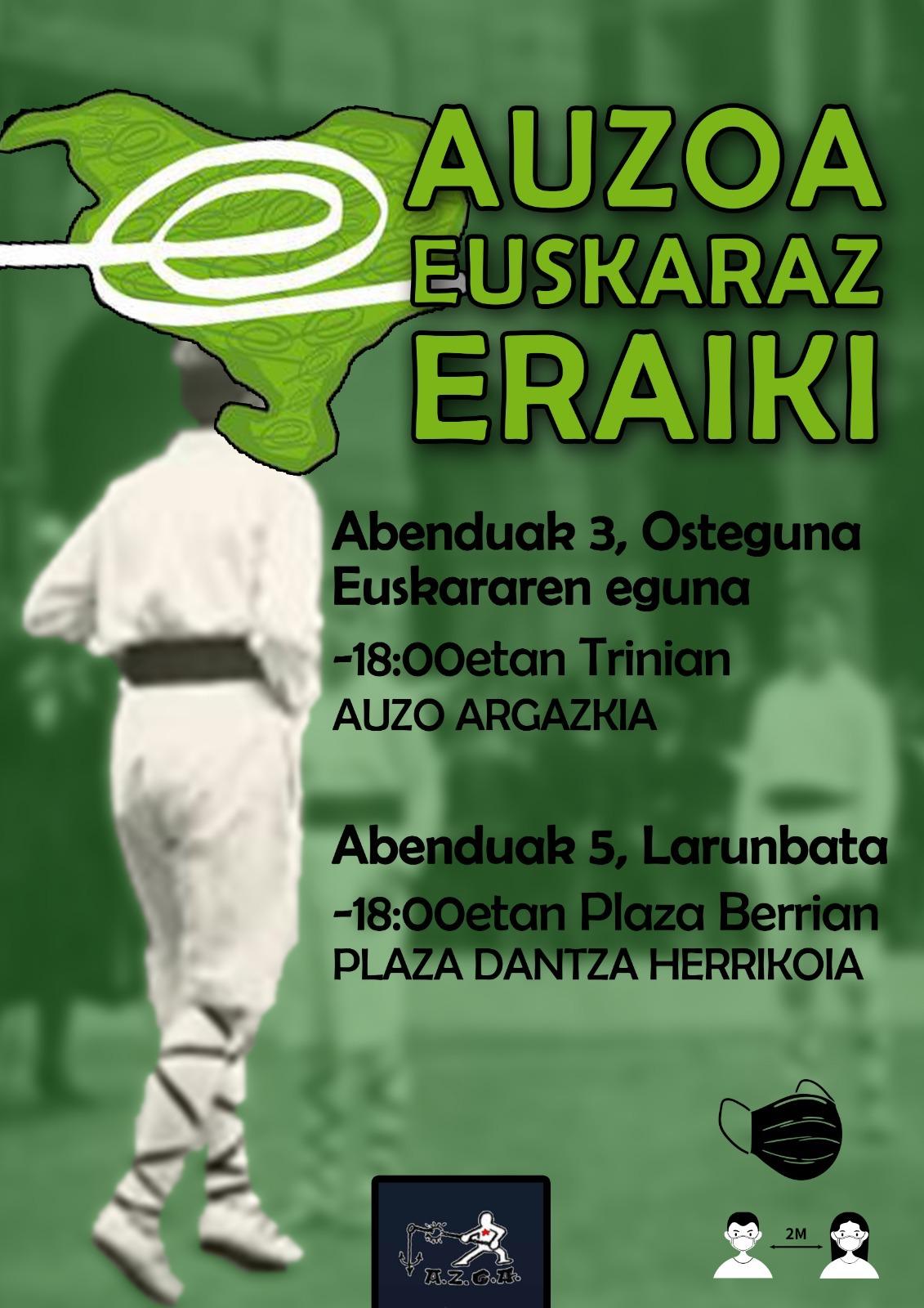 """Alde Zaharreko Gazte Asanbladak """"auzoan euskararen alde antolatzen den komunitatea zabala dela"""" erakutsi nahi du. (Argazkia: AZGA)"""