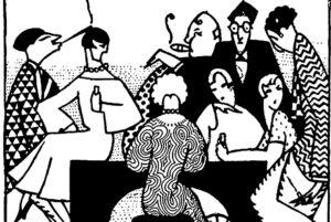 1926an Ignacia Zabalok 'Agere' aldizkarirako egindako ilustrazioa: 'Elegancia o vanidad, terrible dilema' du izena ilustrazioak. (Argazkia: Gipuzkoa Kultura)