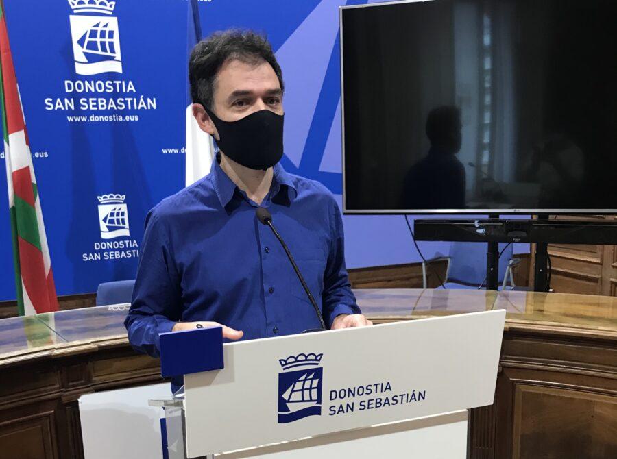 Ricardo Burutaran, EH Bilduko zinegotzia Donostiako Udalean. (Argazkia: EH Bildu)