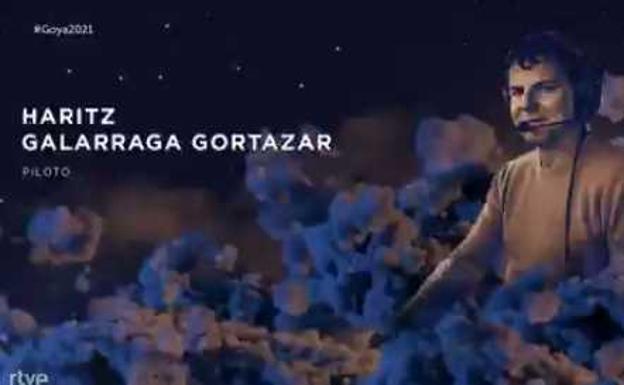 Haritz Galarragaren omenaldia, Goya sarien galan. (Argazkia: Premios Goya)