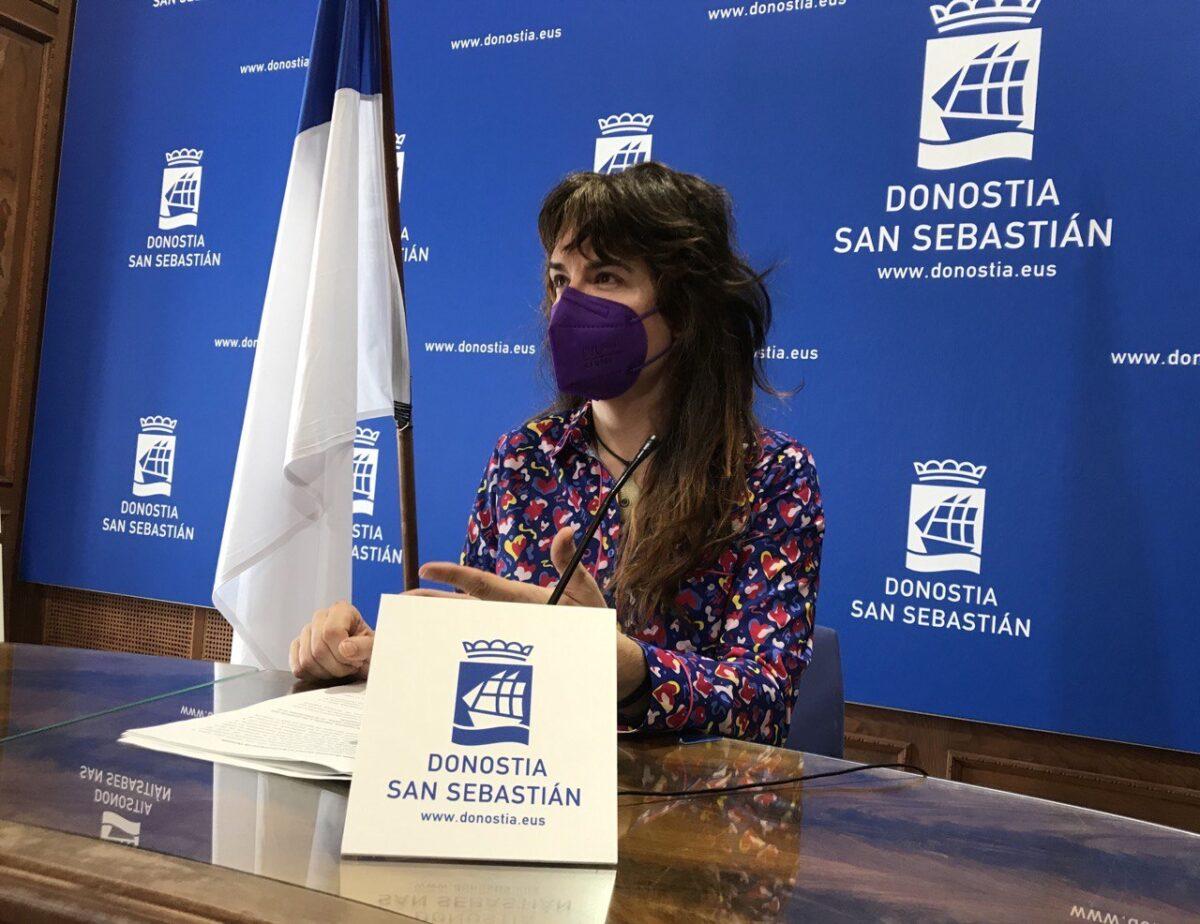 Aitzole Araneta Elkarrekin Donostiako bozeramailea, artxiboko irudi batean. (Argazkia: Mikel Elkoroberezibar Beloki)