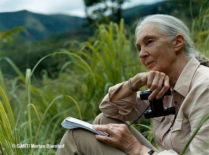 Jane Goodall ikertzaile eta aktibista, Tanzanian. (Argazkia: GANT / Morten Bjarnhof)