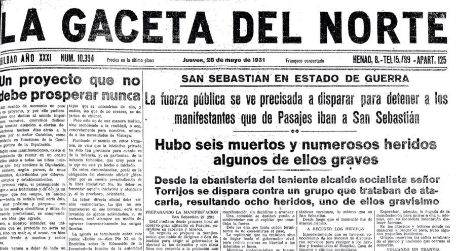Ategorrietako sarraskia gertatu ostean, horrela kontatu zuen sarraskia La Gaceta del Norte egunkariak.
