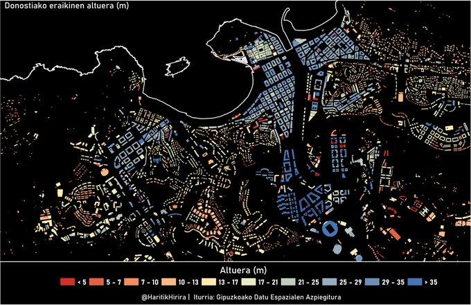 Haritik Hirirakoek egindako irudia: Donostiako eraikinen altuera