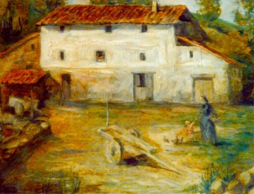 Anoeta baserriaren margolana, 1860 ingurukoa. Maria Jesus Dendategiren jabetzakoa da.