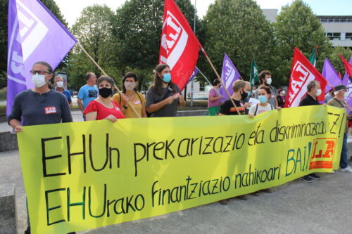 Lab protesta EHU