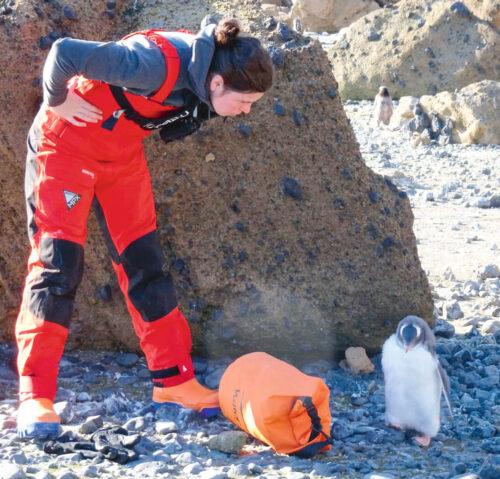 Antartikan izotza urtzen ari dela ikusi du Intxaustegik, eta pinguinoei kalte egiten die. (Argazkia: Maria Intxaustegi)