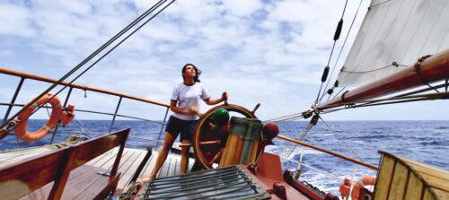 """Maria Intxaustegi, Ozeano Australean nabigatzen: ozeano """"berezia"""" da beretzat. (Argazkia: Maria Intxaustegi)"""